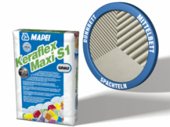 Kleber, Flexkleber, Fliesenkleber, Keraflex Maxi S1, Flexklebemörtel, Mapei, Fliesenparadies