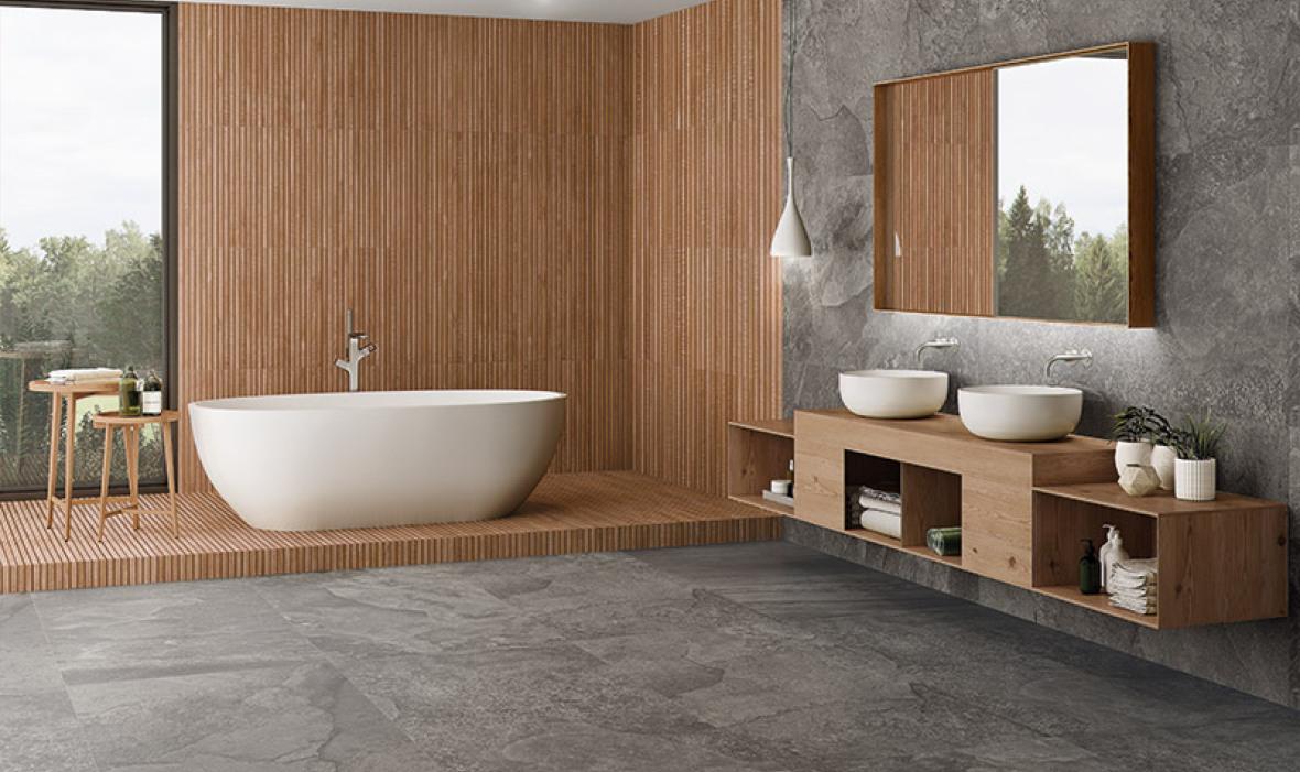 badezimmer fliesen rustikal holzboden badezimmer fliesen. Black Bedroom Furniture Sets. Home Design Ideas